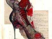 Schuh eines zerissenen Tanzpaares